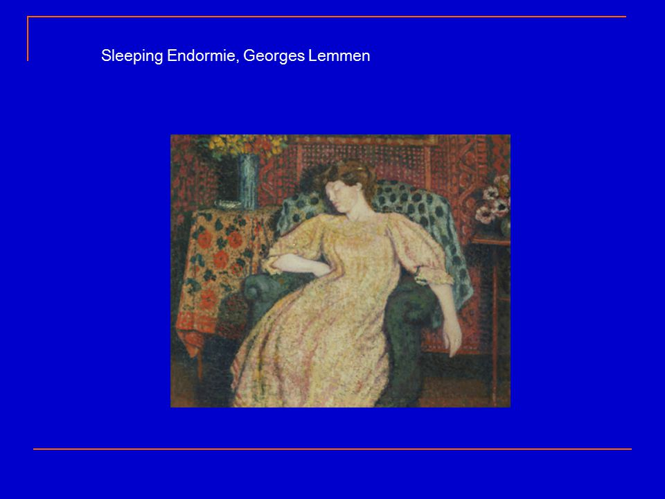 Sleeping Endormie, Georges Lemmen