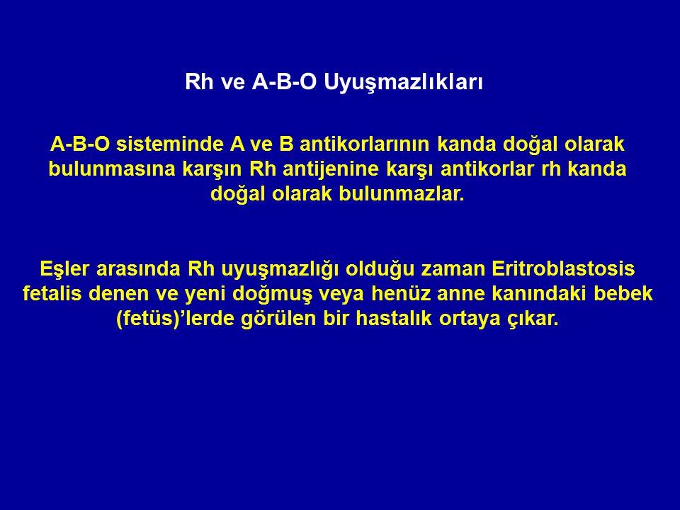 Rh ve A-B-O Uyuşmazlıkları