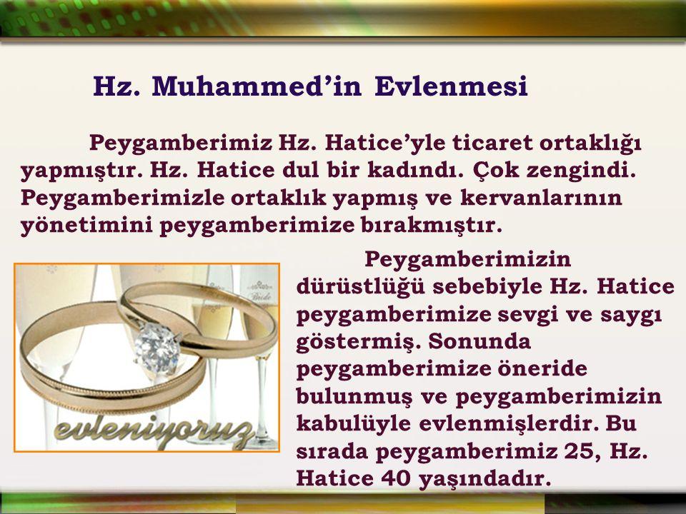 Hz. Muhammed'in Evlenmesi