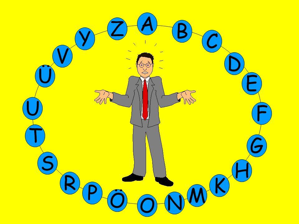 A Z B Y C V D Ü E U F T G S H R K P M Ö N O