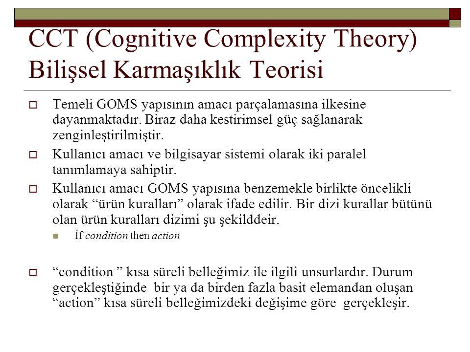 CCT (Cognitive Complexity Theory) Bilişsel Karmaşıklık Teorisi