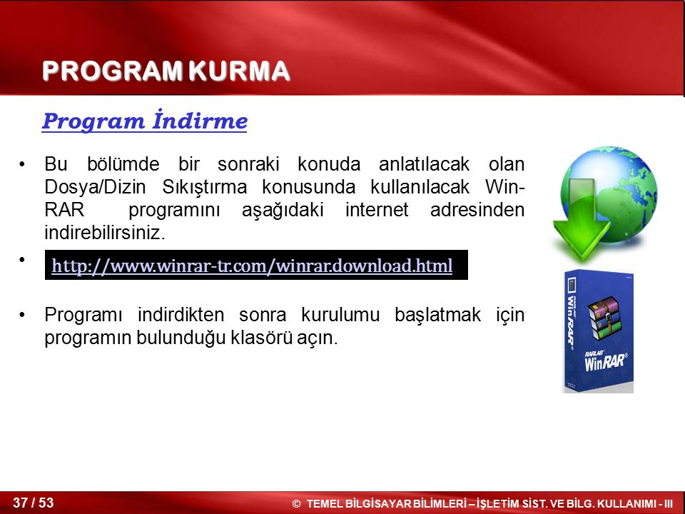 PROGRAM KURMA Program İndirme