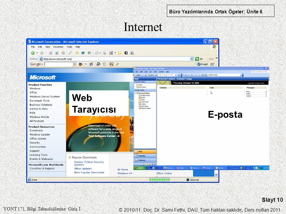 Internet Web Tarayıcısı E-posta