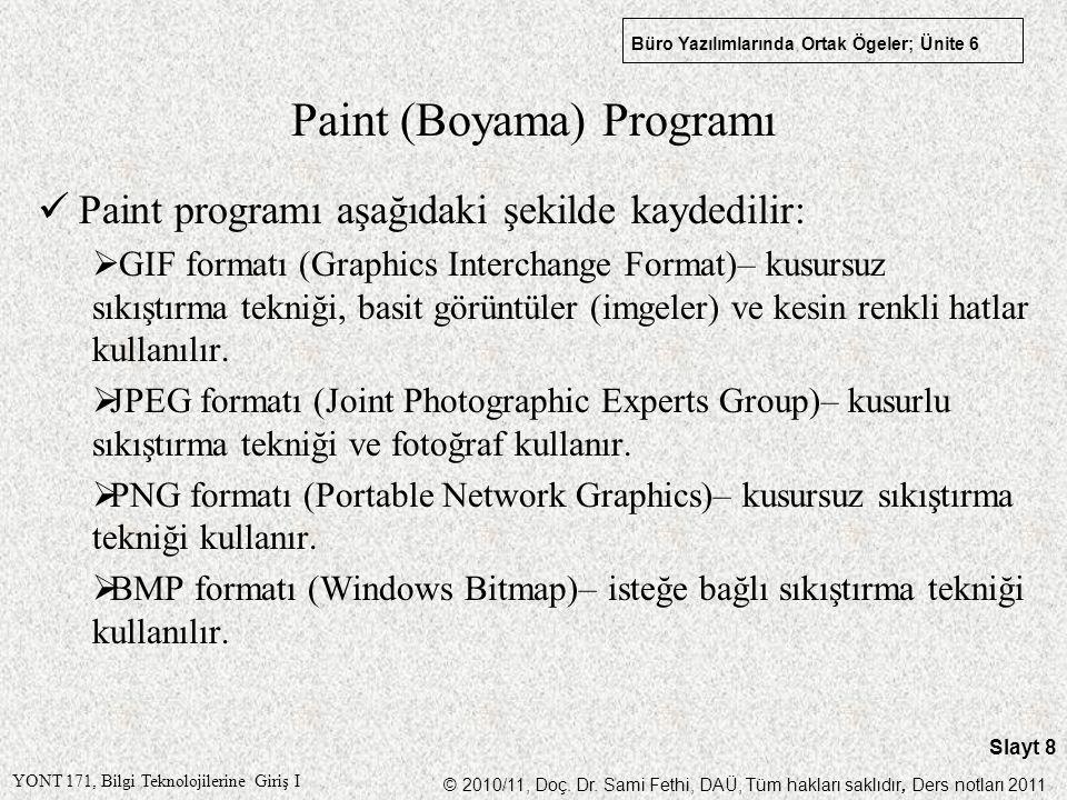 Paint (Boyama) Programı