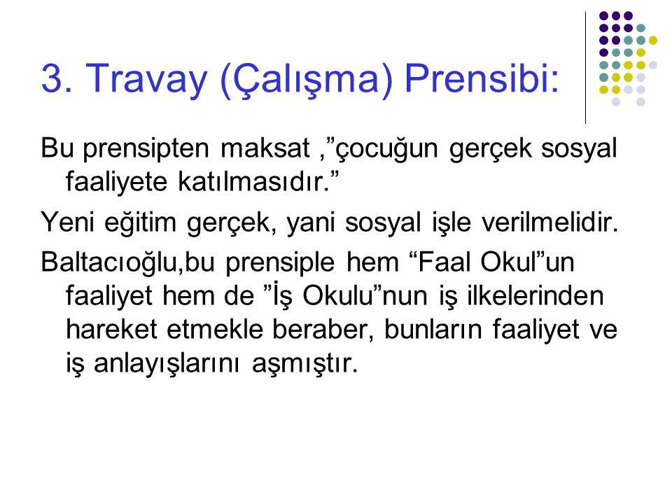 3. Travay (Çalışma) Prensibi: