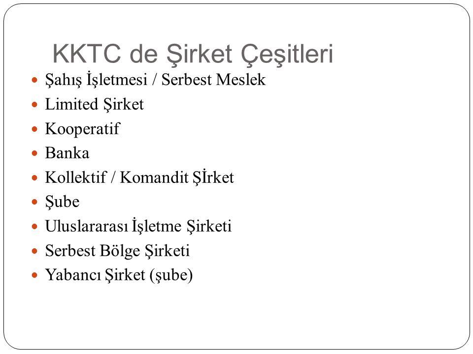 KKTC de Şirket Çeşitleri