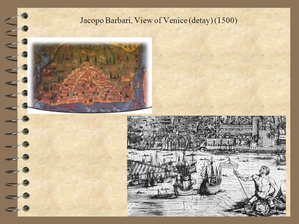 Jacopo Barbari, View of Venice (detay) (1500)