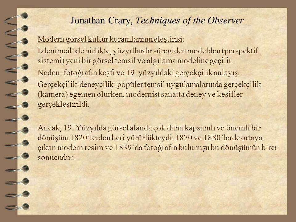 Jonathan Crary, Techniques of the Observer