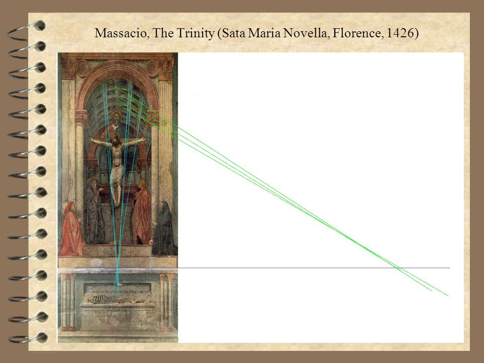 Massacio, The Trinity (Sata Maria Novella, Florence, 1426)