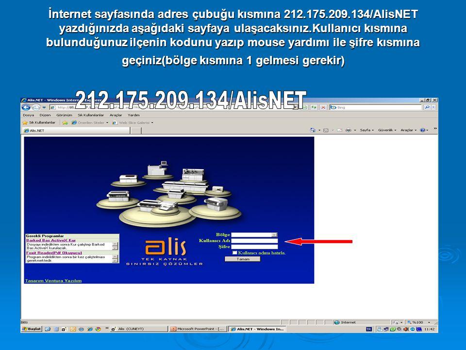 İnternet sayfasında adres çubuğu kısmına 212. 175. 209