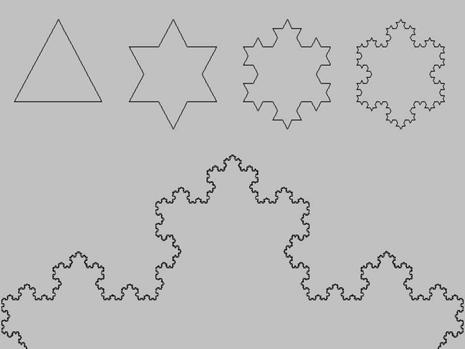 Helge von Koch, doğadaki fraktal geometrik düzenden ilham alarak 1904'te Koch kar tanesi adını verdiği kar tanelerini kağıt üzerinde oluşturmuştur. Başlangıç şekli olarak üçgeni kullanan Koch, her üçgenin kenarlarına daha küçük üçgenler yerleştirerek çeşitli kar taneleri şekilleri elde etmiştir.