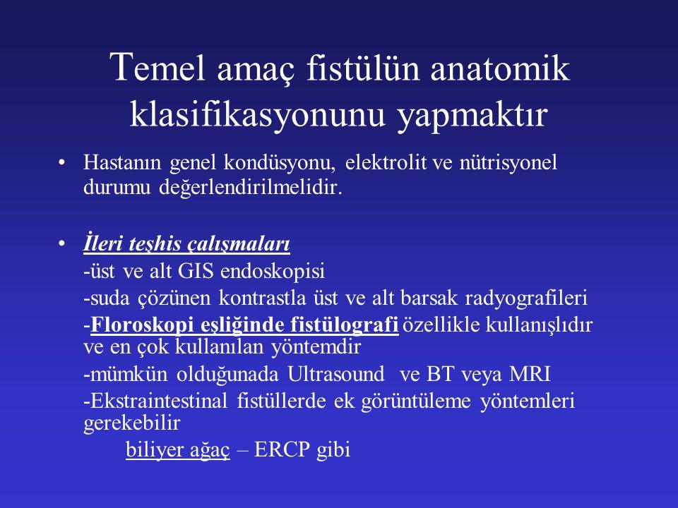 Temel amaç fistülün anatomik klasifikasyonunu yapmaktır