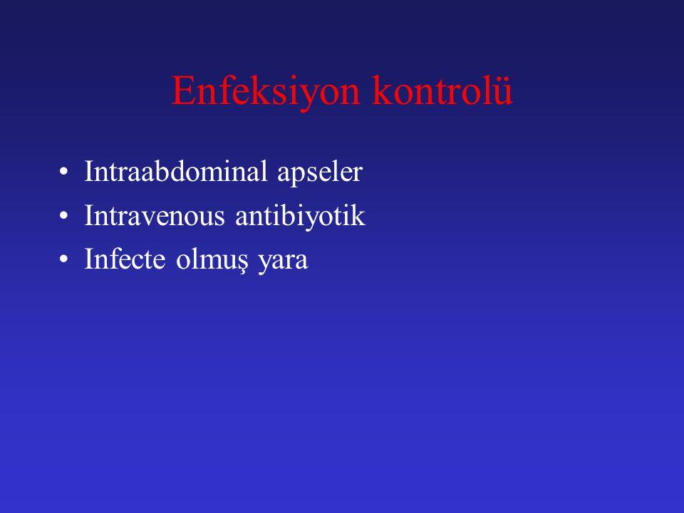 Enfeksiyon kontrolü Intraabdominal apseler Intravenous antibiyotik