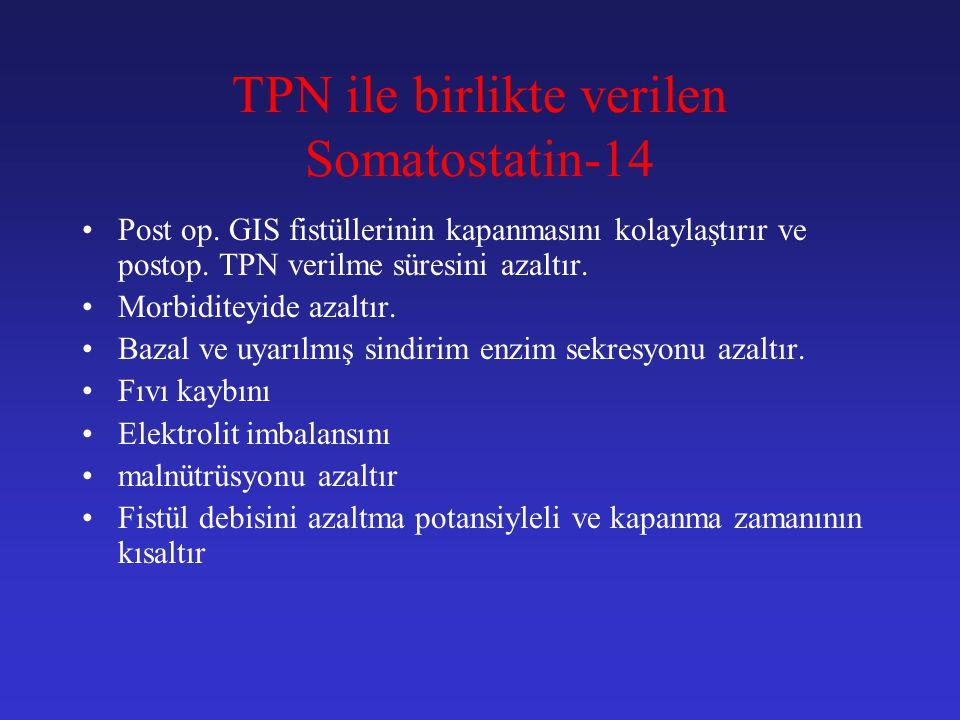 TPN ile birlikte verilen Somatostatin-14