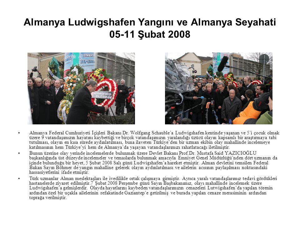 Almanya Ludwigshafen Yangını ve Almanya Seyahati 05-11 Şubat 2008