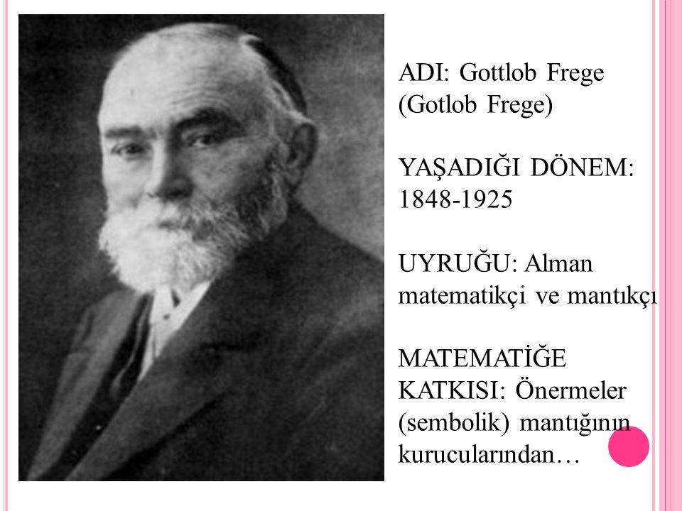 ADI: Gottlob Frege (Gotlob Frege)