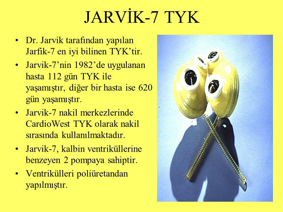 JARVİK-7 TYK Dr. Jarvik tarafından yapılan Jarfik-7 en iyi bilinen TYK'tir.