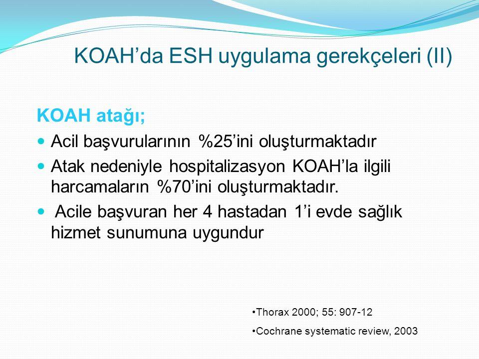 KOAH'da ESH uygulama gerekçeleri (II)