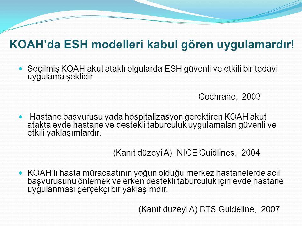 KOAH'da ESH modelleri kabul gören uygulamardır!