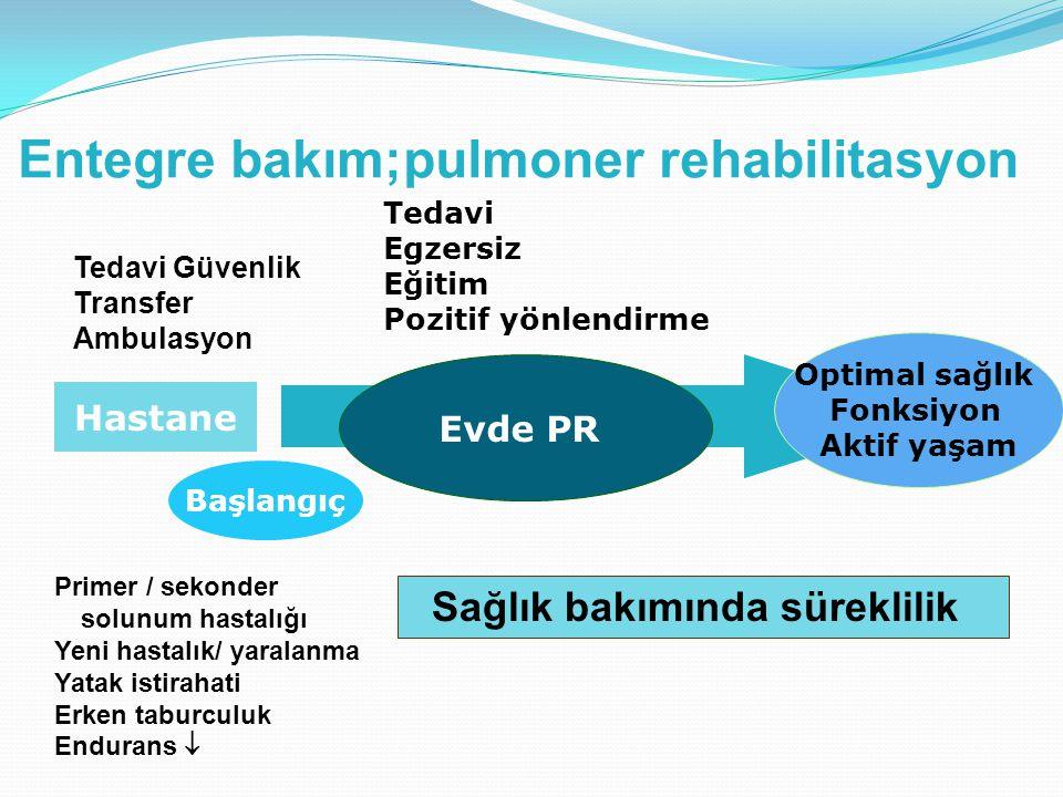 Entegre bakım;pulmoner rehabilitasyon