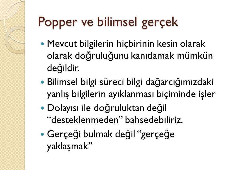 Popper ve bilimsel gerçek