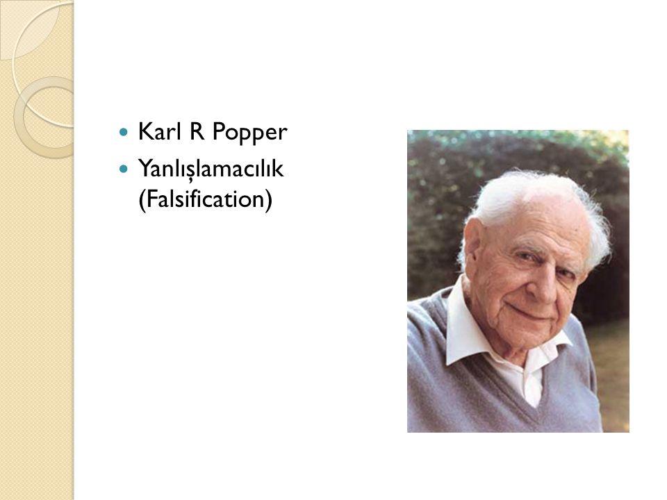 Karl R Popper Yanlışlamacılık (Falsification)