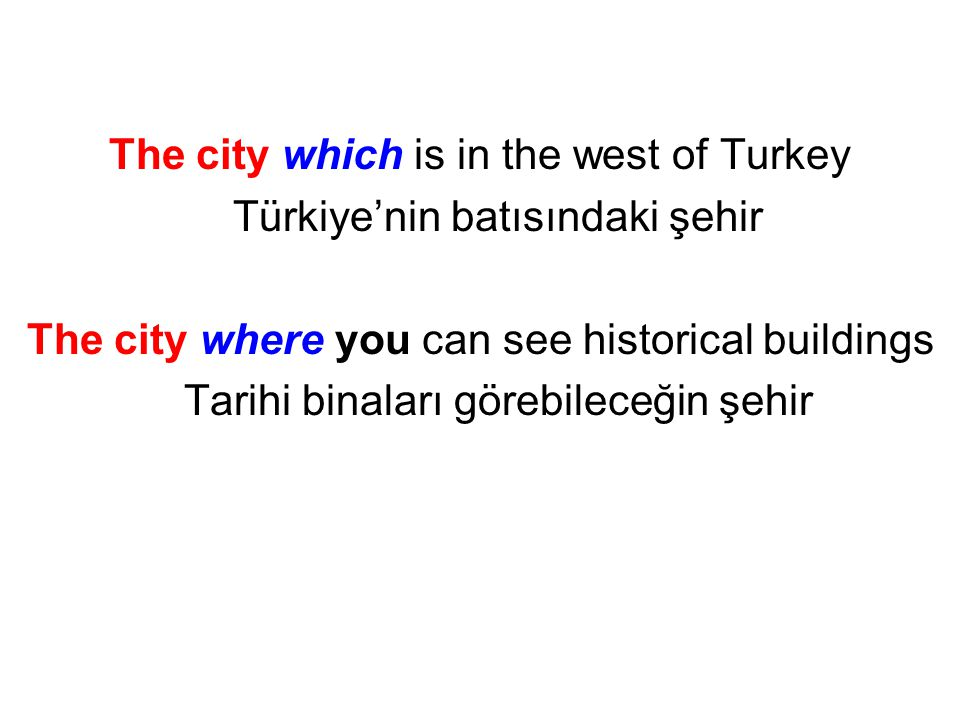The city which is in the west of Turkey Türkiye'nin batısındaki şehir
