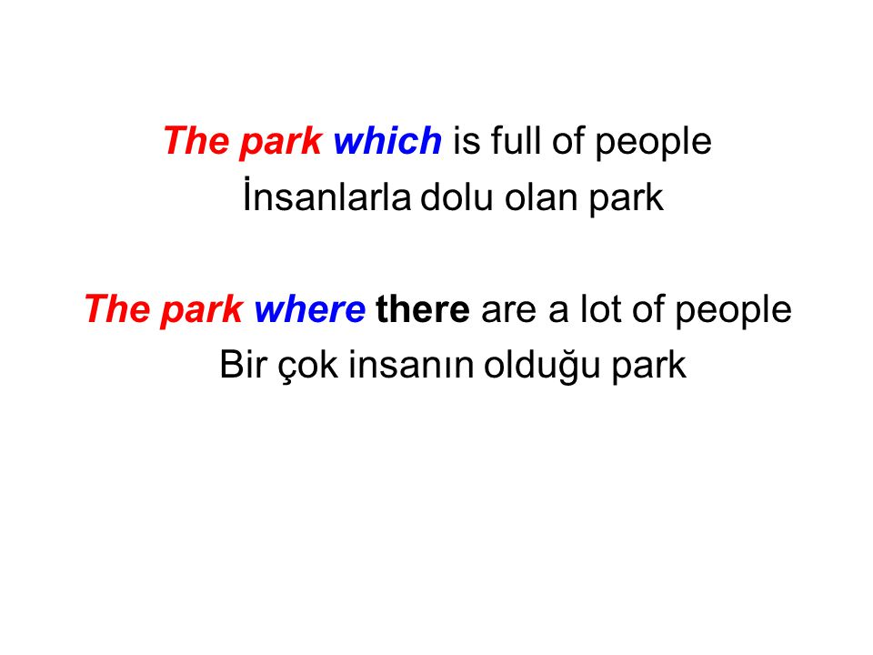 The park which is full of people İnsanlarla dolu olan park