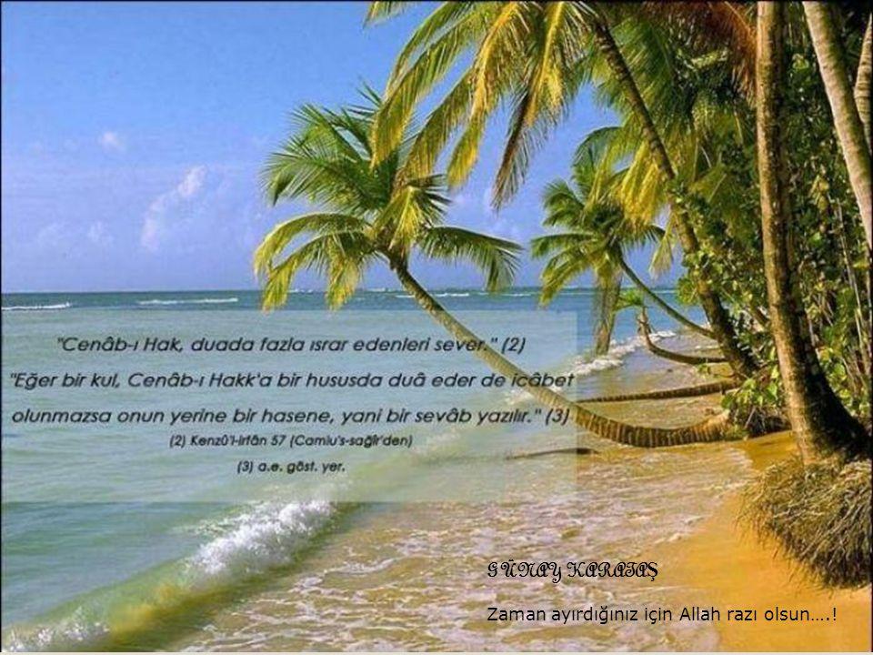GÜNAY KARATAŞ Zaman ayırdığınız için Allah razı olsun….!