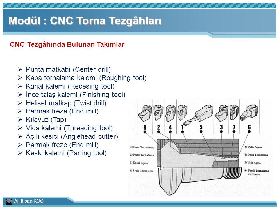 CNC Tezgâhında Bulunan Takımlar