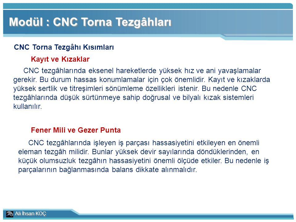 CNC Torna Tezgâhı Kısımları Fener Mili ve Gezer Punta