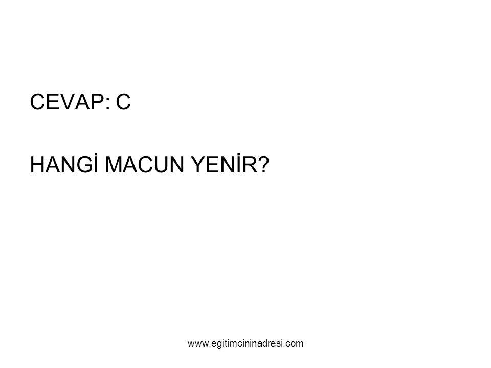 CEVAP: C HANGİ MACUN YENİR www.egitimcininadresi.com