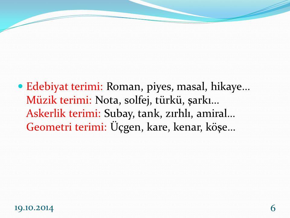 Edebiyat terimi: Roman, piyes, masal, hikaye