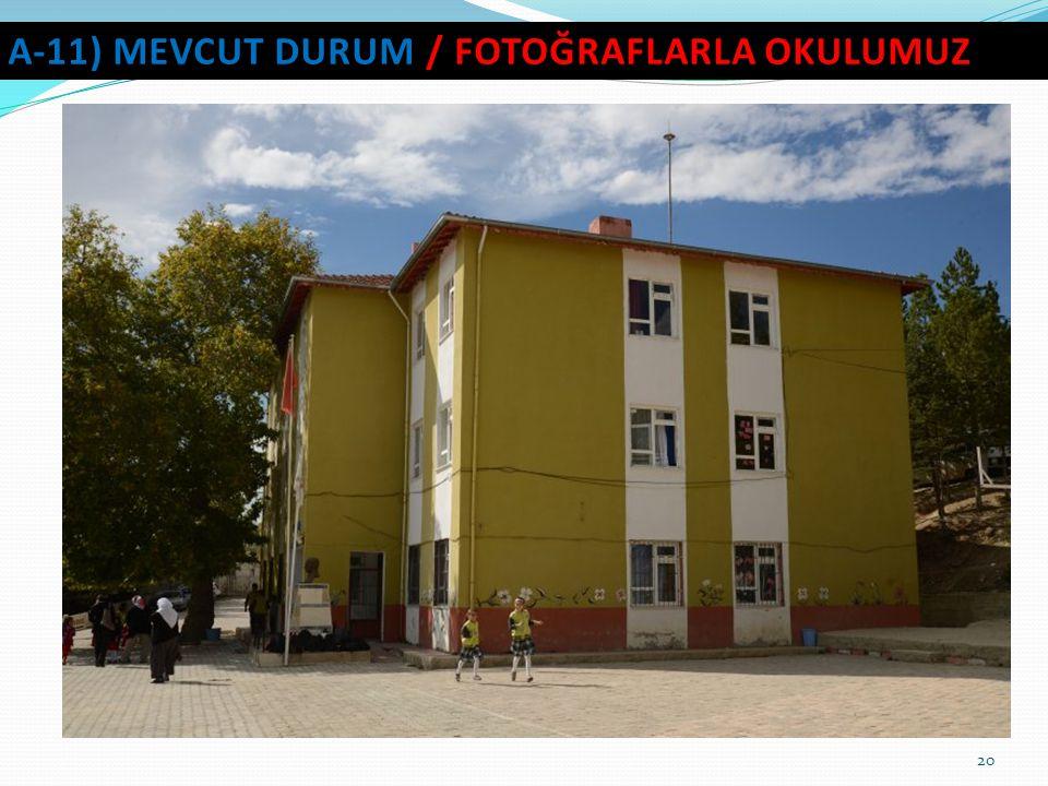 A-11) MEVCUT DURUM / fotoğraflarla okulumuz