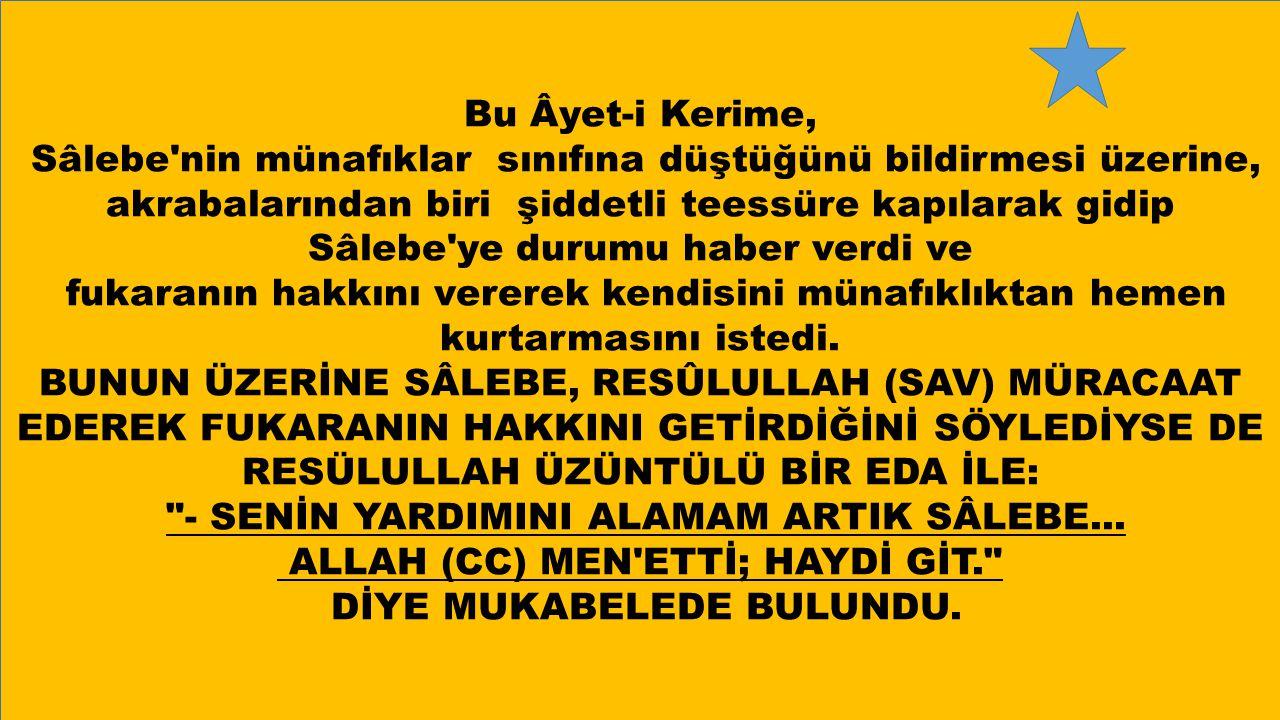 - SENİN YARDIMINI ALAMAM ARTIK SÂLEBE...