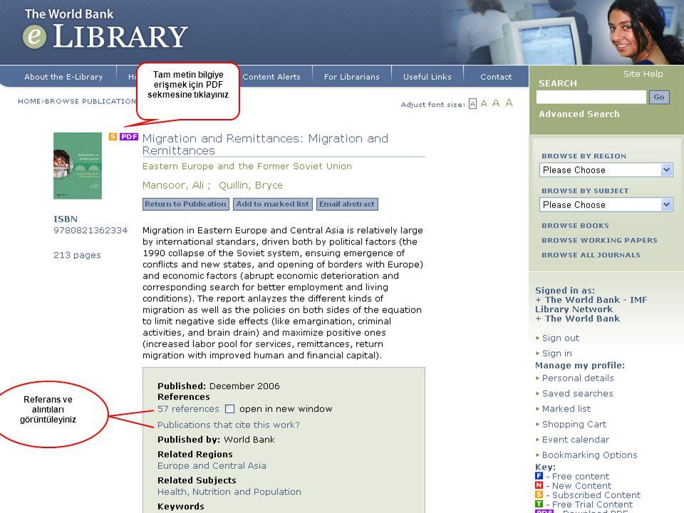 Tam metin bilgiye erişmek için PDF sekmesine tıklayınız