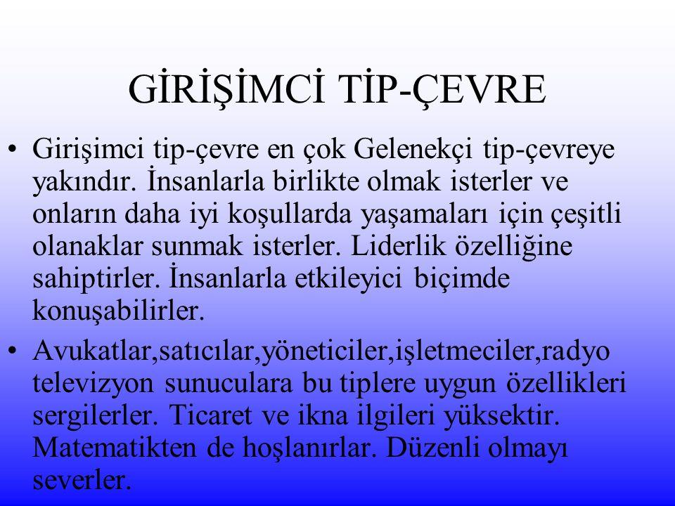 GİRİŞİMCİ TİP-ÇEVRE