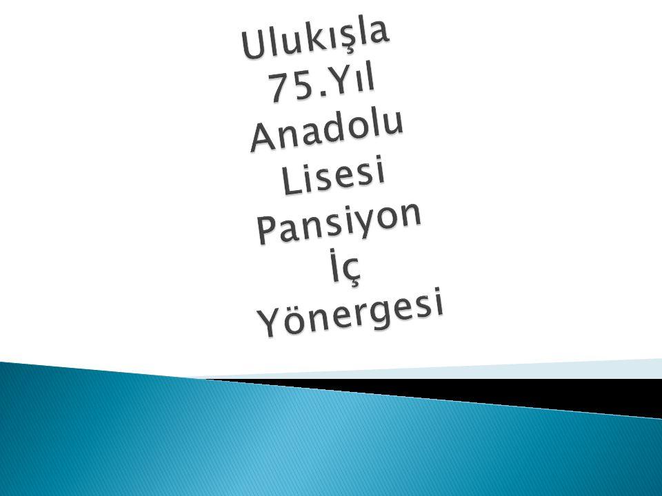 Ulukışla 75.Yıl Anadolu Lisesi Pansiyon İç Yönergesi