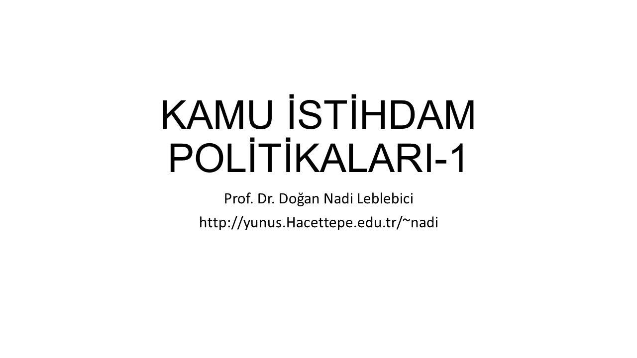 KAMU İSTİHDAM POLİTİKALARI-1