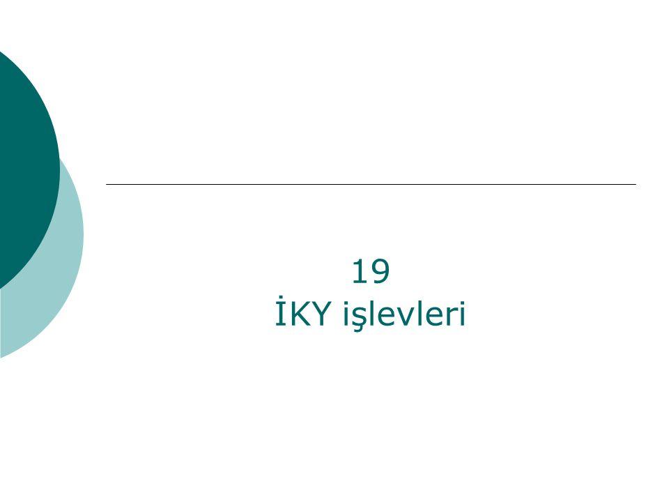 19 İKY işlevleri