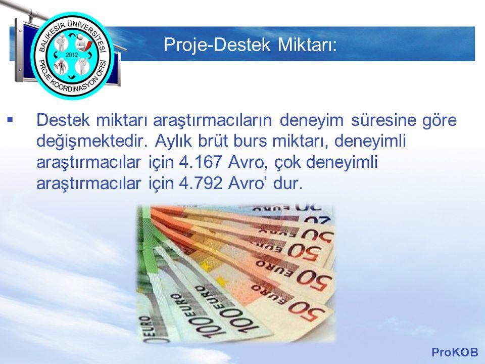Proje-Destek Miktarı: