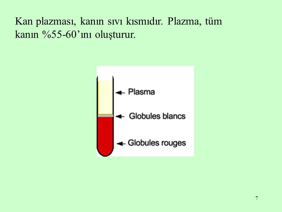 Kan plazması, kanın sıvı kısmıdır