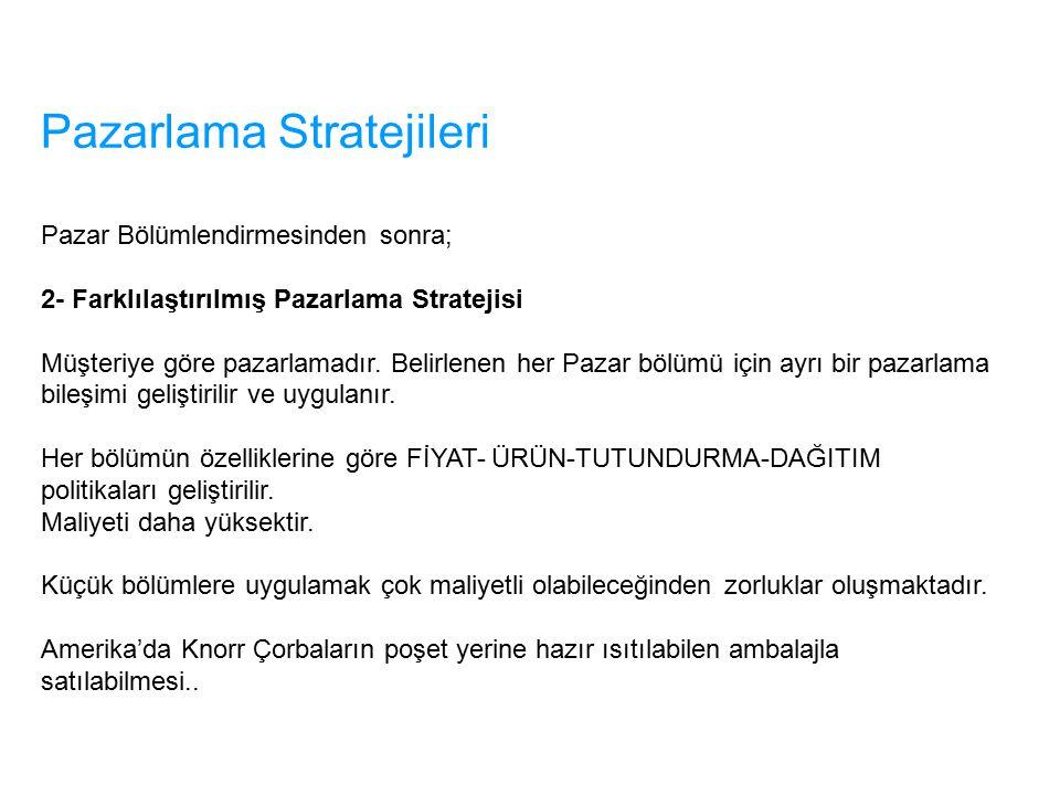 Pazarlama Stratejileri