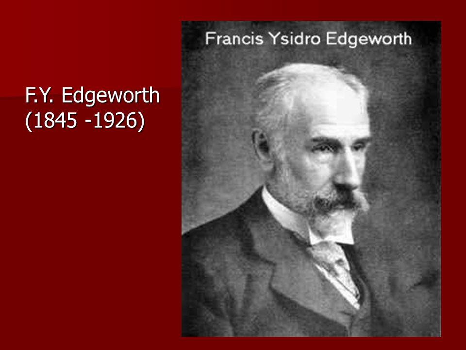 F.Y. Edgeworth (1845 -1926)