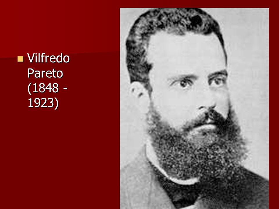 Vilfredo Pareto (1848 -1923)