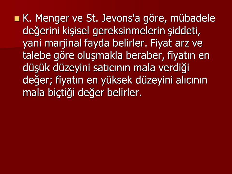K. Menger ve St.