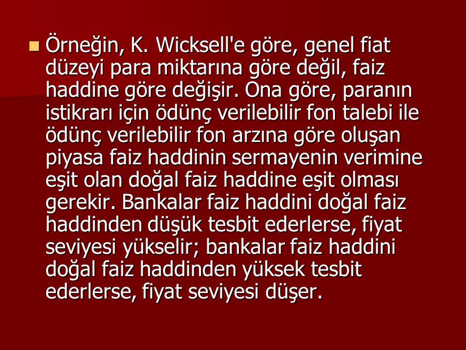 Örneğin, K.