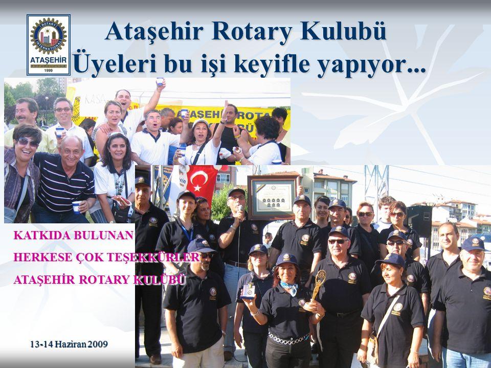 Ataşehir Rotary Kulubü Üyeleri bu işi keyifle yapıyor...