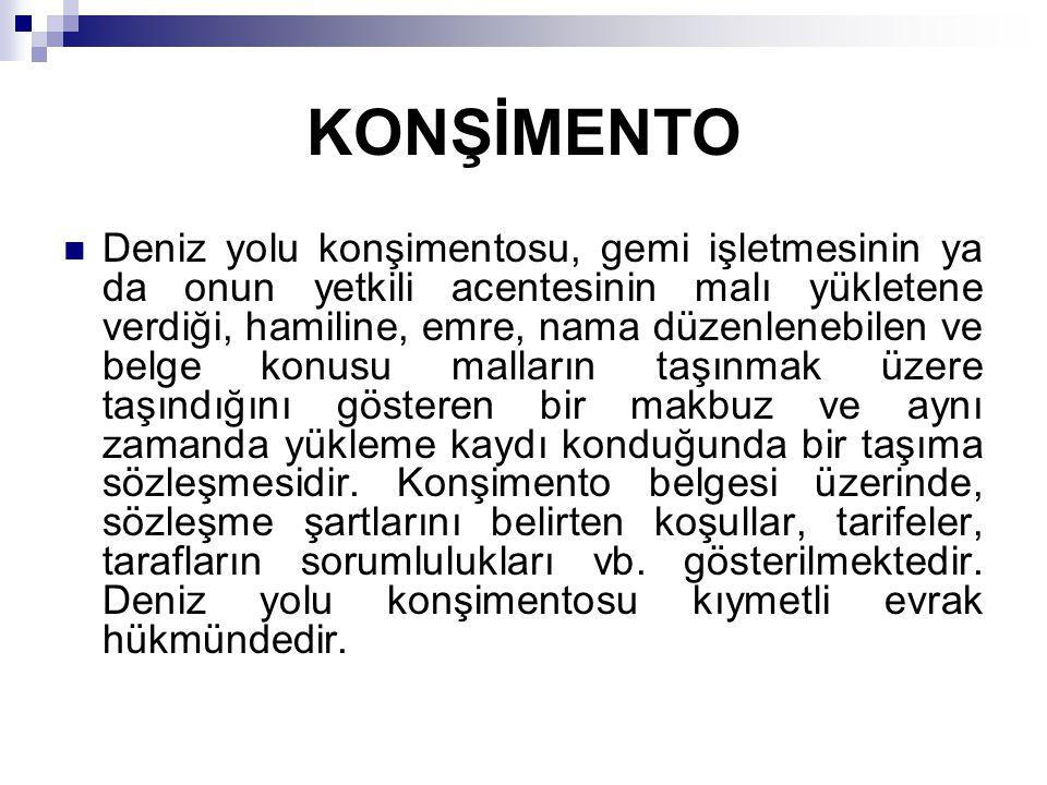 KONŞİMENTO