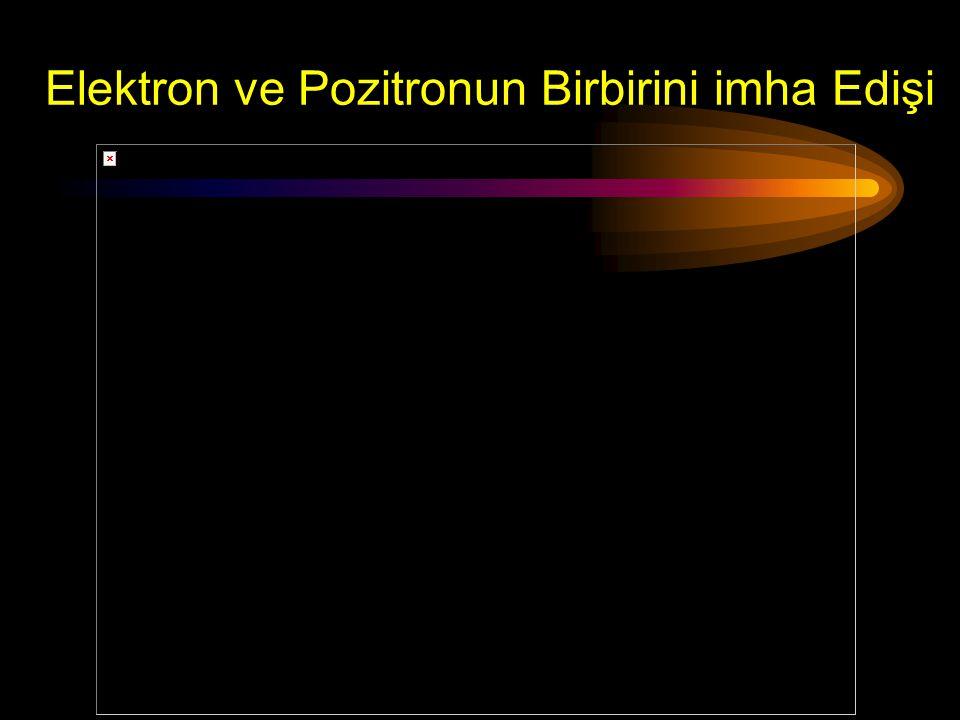Elektron ve Pozitronun Birbirini imha Edişi